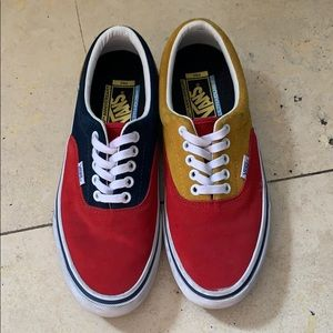Vans Red/Yellow/Navy